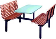 Contour Slat Booth Seating