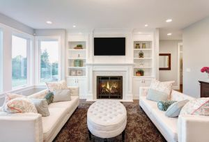 beautiful white room in a newly remodeled home