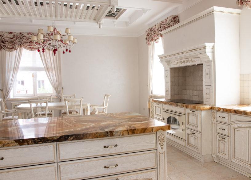 beautiful interior of the kitchen area