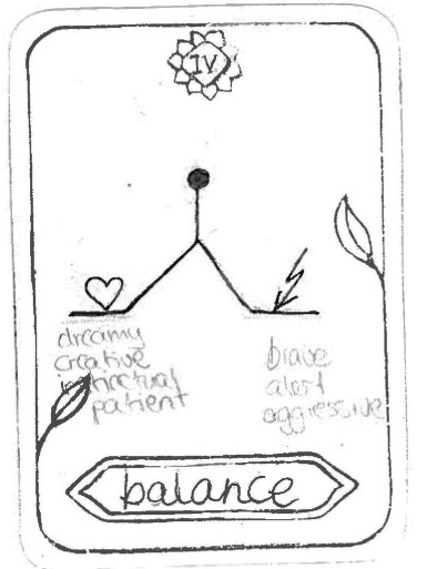 "Balance, by Azin Inspired by 'The Emperor' ""Find a balance between being dreamy, creative, patient and being brave & alert."""