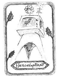"HIEROELOPHANT, by Geert-Jan Inspired by 'The Hierophant' ""MEDIA IS GOD AND THE ONLY REAL POWER OF THIS TIME"""