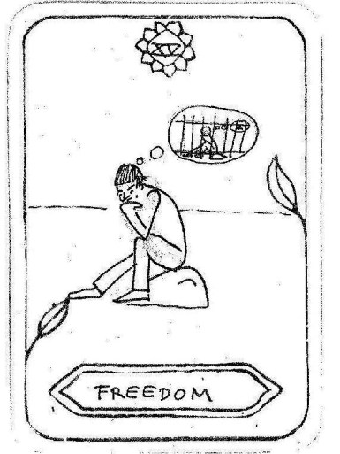 "Freedom, by ANNA BöHNKE Inspired by 'The Devil' ""Do you always have a free decision?"""