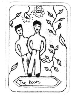 "The Roots, by Adriana Verhagen Inspired by 'The Moon' ""Our roots are deeply seated. They guide our direction. Sometimes we are unaware and loose the conscious of our roots, then we might doubt our origins & directions. We must learn to guide the growth of our roots & flowers through nurture of constructive feelings."""