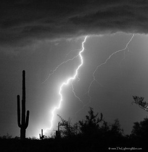 Lightning strike in the high desert (CC Image by Bo Insogna via Flickr)