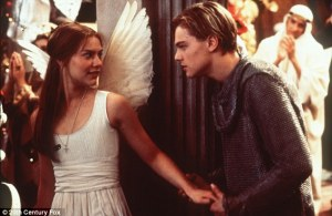 Romeo and Juliet fell in love the moment they first laid eyes on each other (Romeo + Juliet, 1996)