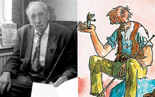 """Roald Dahl's """"Big Friendly Giant"""" was inspired by carpenter Wally Saunders, who built the big brick hut in which many of the author's most beloved stories were written (Source: The Telegraph)"""