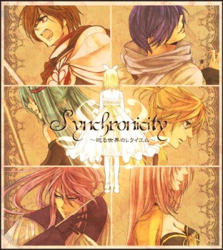 The Vocaloids as they appear in the Synchronicity trilogy