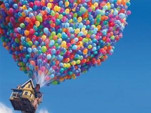 Pixar UP - House and Balloons