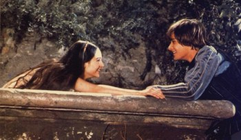 Romeo and Juliet profess their love for each other over Juliet's balcony (Romeo and Juliet, 1968)