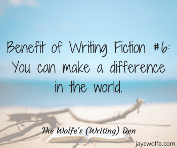 perks of being a fiction writer make a difference