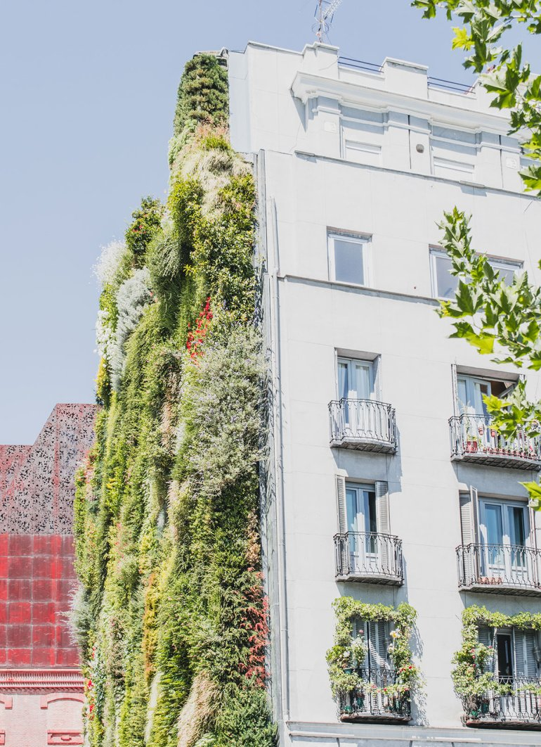 Relaxed One Day Itinerary for Madrid - Vertical Garden