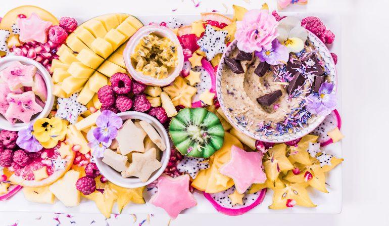 A Healthy, Fresh and Festive Dessert Grazing Board
