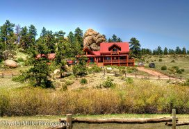 Peaceful homes in the Colorado Rocky Mountains.