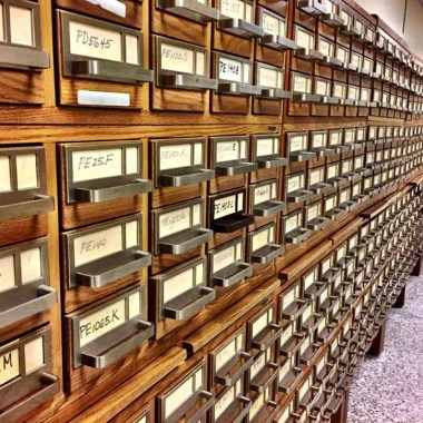 card catalogs