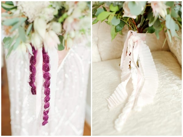 ribbons on your wedding bouquet