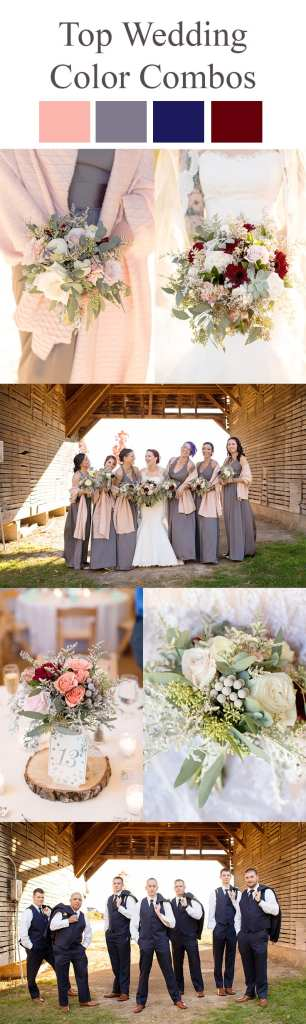 Wedding Color Combination Ideas, winter wedding color ideas, ideas for winter weddings, winter wedding colors, deep colors for winter weddings