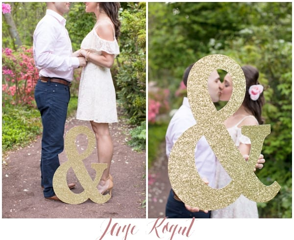 Sayen Garden Engagement Photos, prop ideas for engagement photos