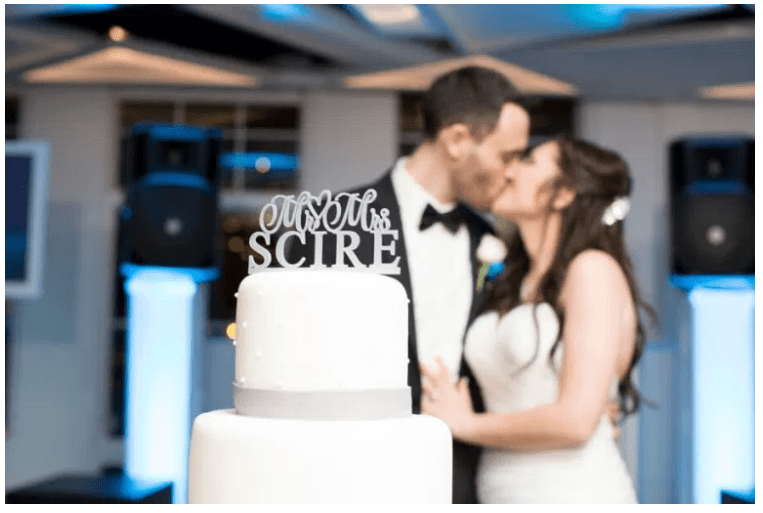 blue and purple new jersey wedding