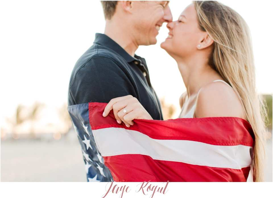 A patriotic proposal, Fourth of July engagement photos