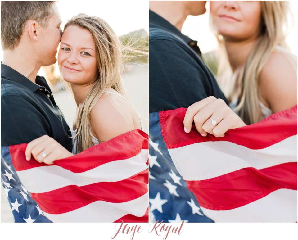A patriotic proposal, Fourth of July engagement photos, point pleasant engagement photos