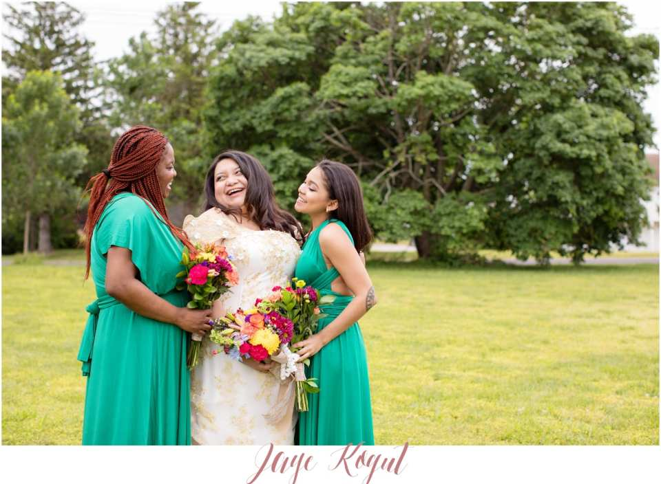 emerald green and gold wedding ideas, backyard weddings in New Jersey