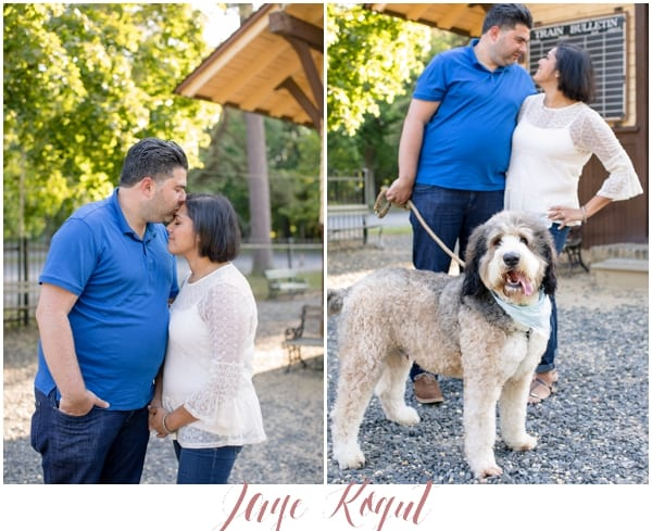 engagement sessions with dogs, allaire state park photos, NJ parks, engagement photos in New Jersey