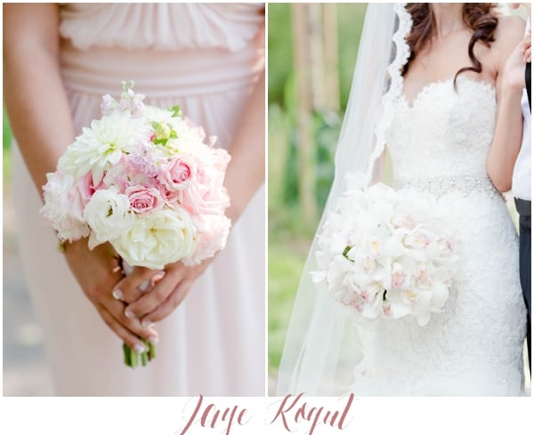 blush pink and white wedding bouquet, orchid wedding bouquet, white wedding flowers, luxury weddings in NJ