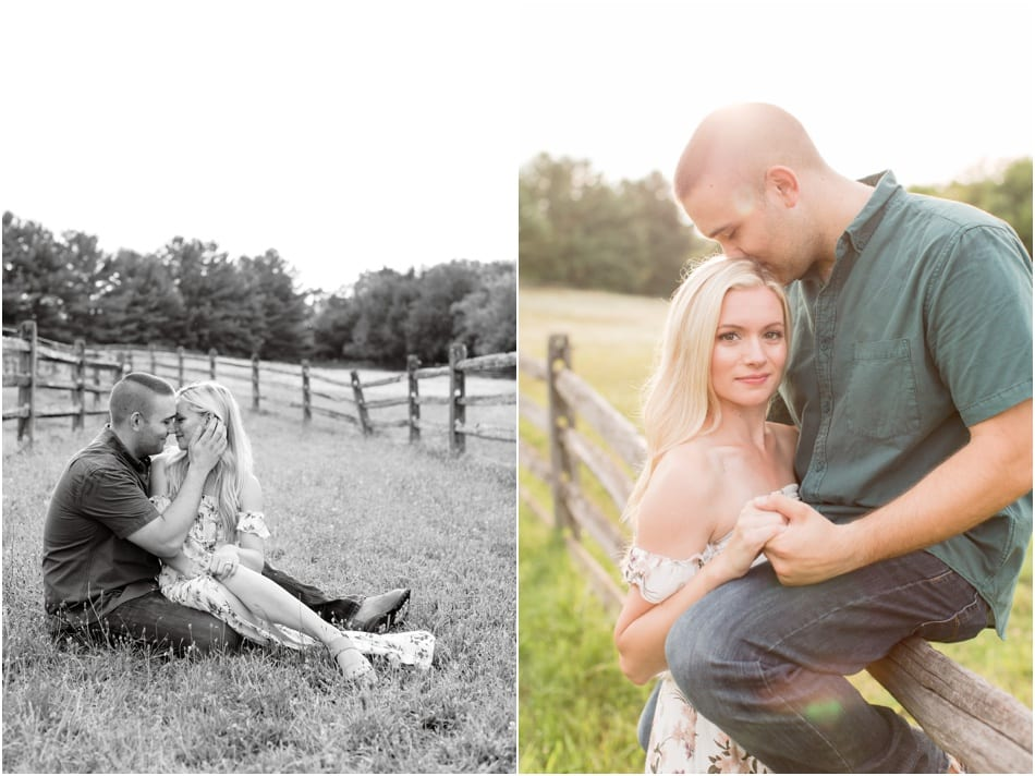 New Jersey Horse Farm Engagement Photos, black and white engagement photos, bright and airy engagement photos, New Jersey wedding photographer, Pennsylvania wedding couple