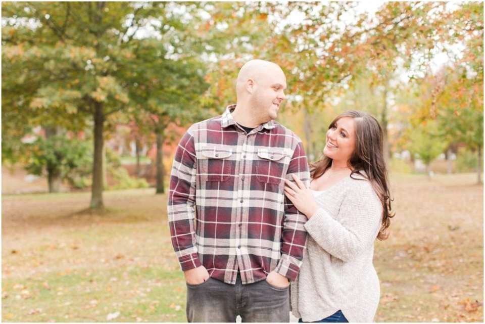 fall engagement photos in NJ, spring lake engagement photography