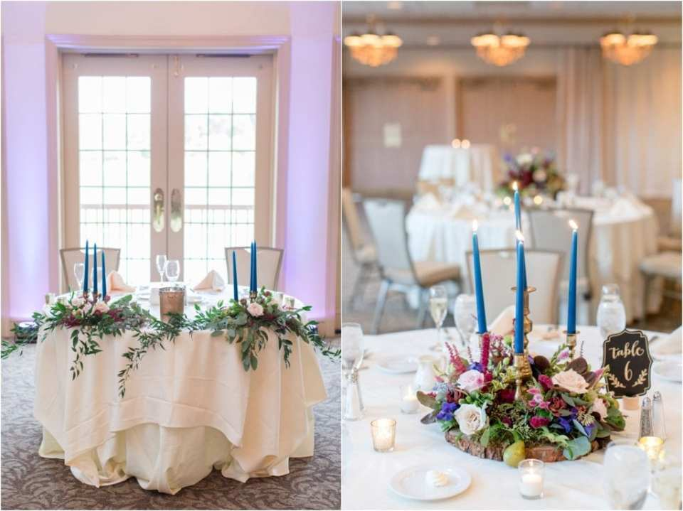 jewel toned wedding ideas, tapered candles