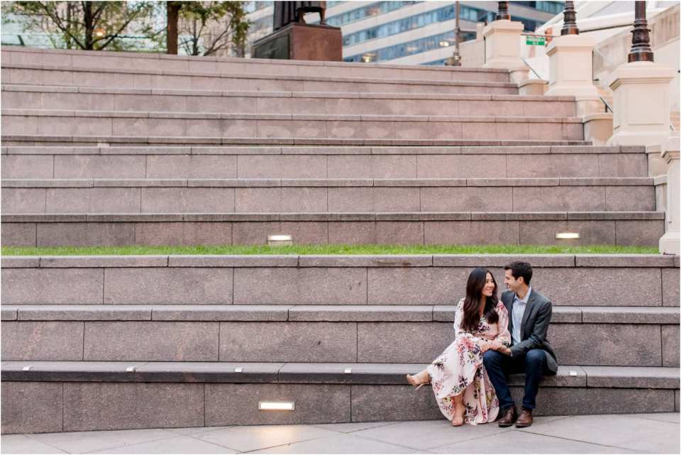 Chicago waterfront engagement photos, free people engagement outfits