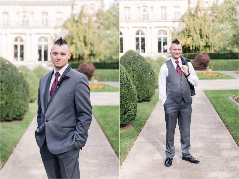 groom portraits at monmouth University