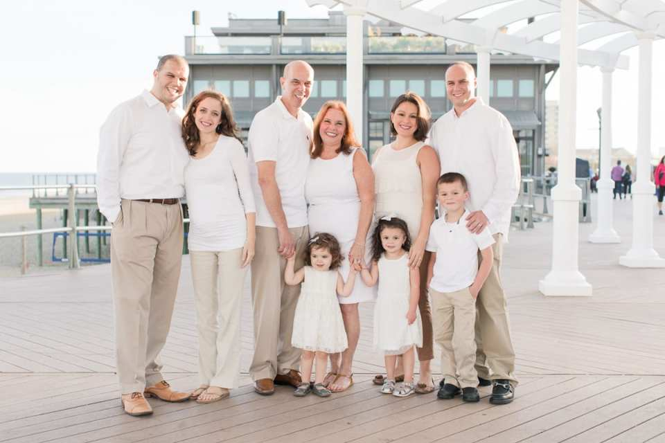 family portraits at the jersey shore