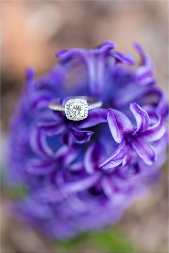 halo engagement ring photos