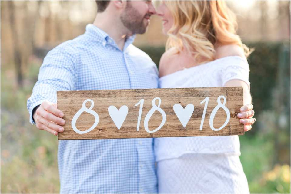 wood signs for engagement photos, engagement photo session props