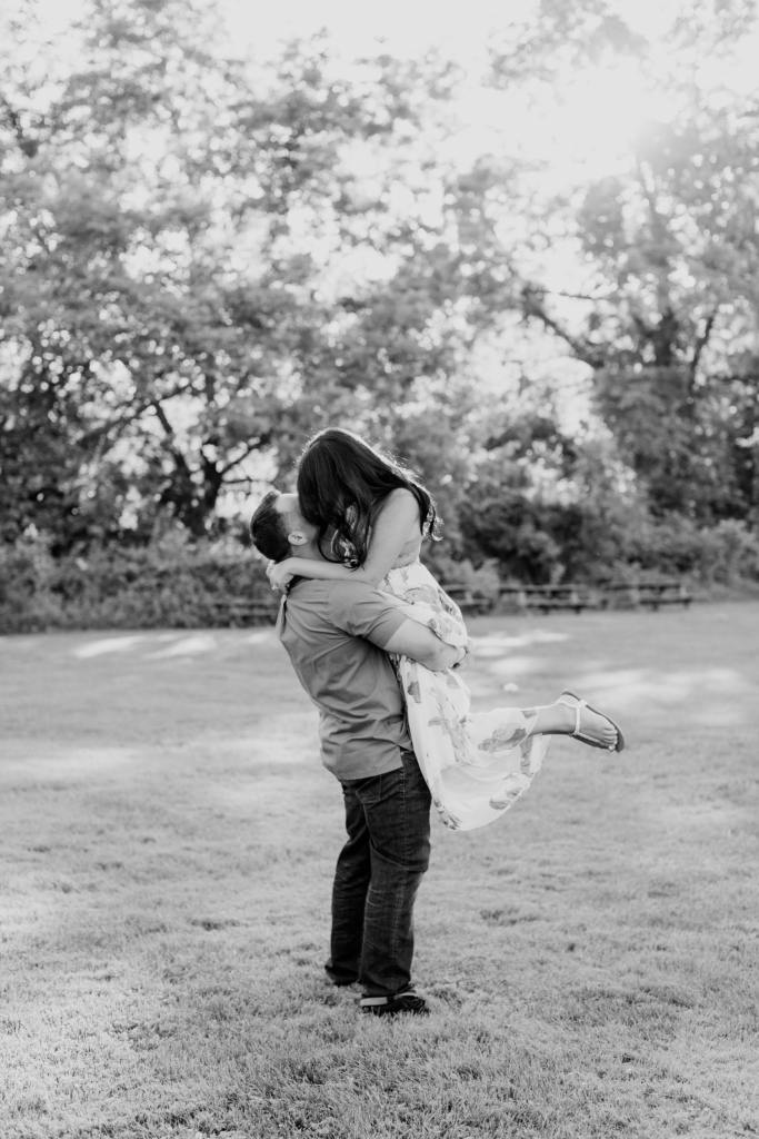 black and white engagement photos, princeton engagement