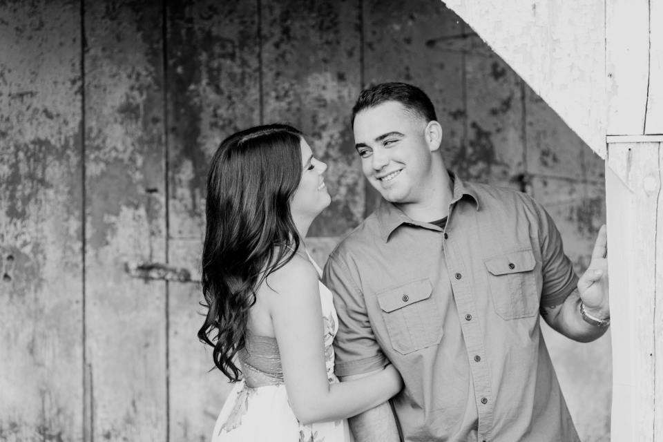 black and white engagement photos, princeton engagement, fun rustic venues in princeton
