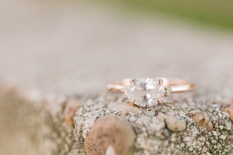 Engagement ring photo, Brilliant Earth Engagement Ring, New Jersey engagement photos