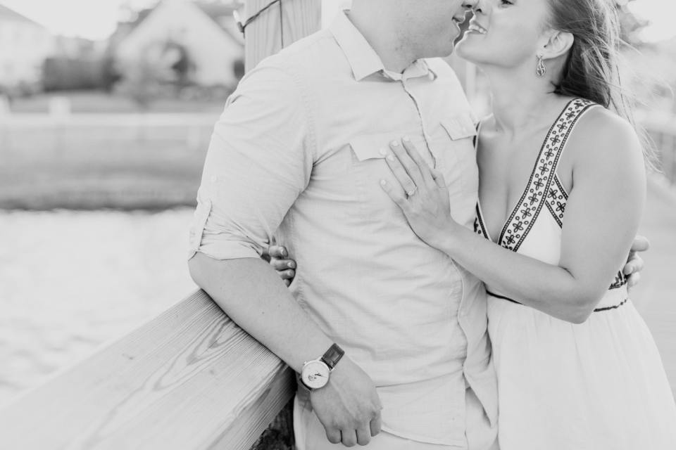 Devine Park engagement photos, engagement ring photos, black and white engagement photos