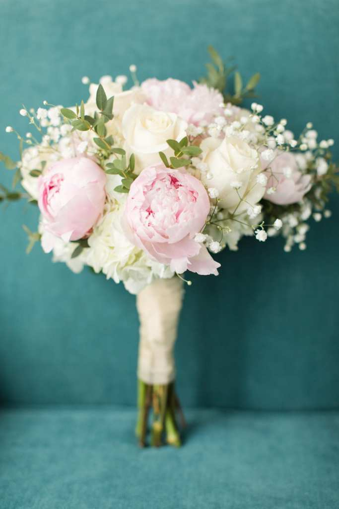 bridal bouquet, pink and white bridal bouquet, NJ wedding photographer