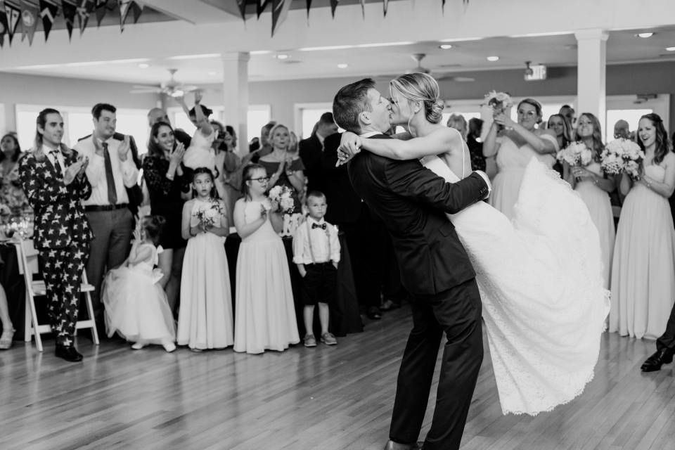 first dance, black and white