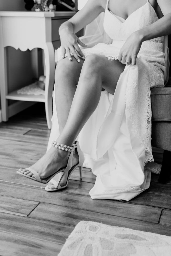 Jessica Simpson shoes, black and white wedding photos