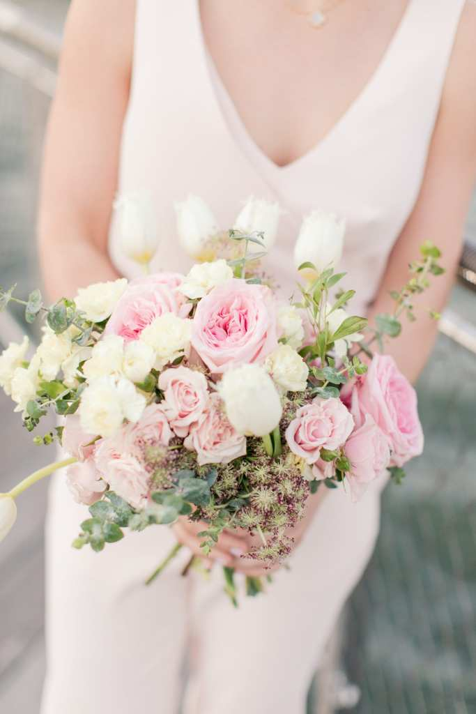 magnolia west events, nj wedding photographer, pink and white bouquet