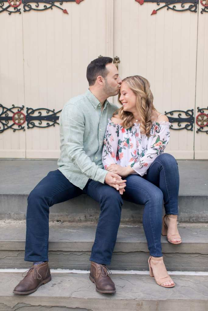 casual engagement attire, casual engagement photo shoot, hoboken engagement shoot, nj wedding photographer