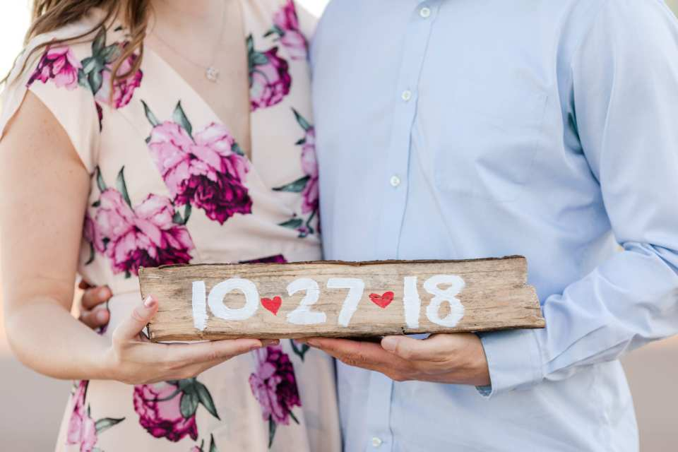 NJ engagement photographer, save the date photo
