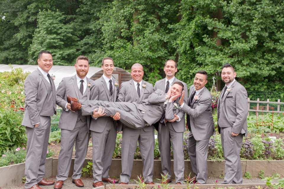 fun groom and his men photo