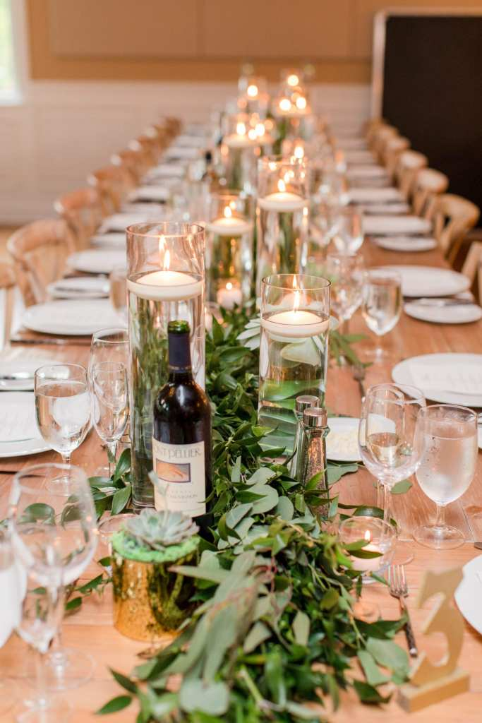 long table seating arrangements at New jersey wedding venues