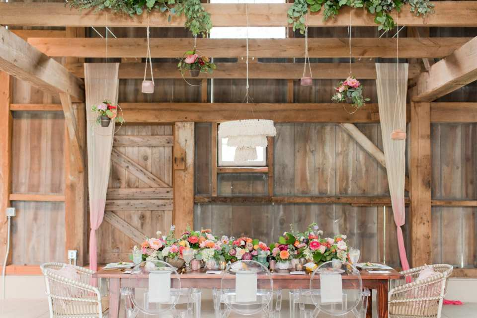 unique farm to table wedding reception, acrylic chairs, rustic boho weddings in NJ, Updike farm in princeton