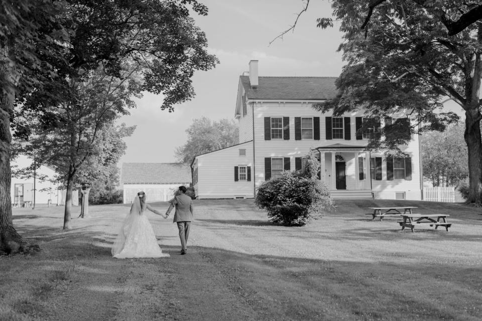 Updike Farmstead wedding, Farmhouse wedding, same sex wedding, black and white wedding photo, NJ wedding photographer