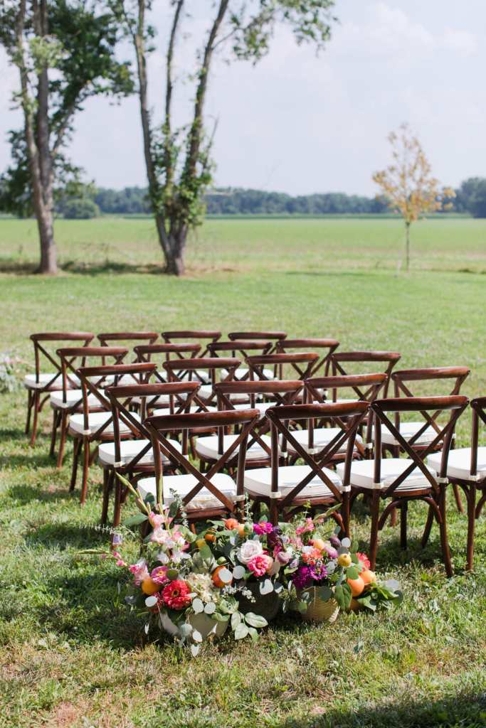 Updike Farmstead wedding, rustic Princeton wedding, outdoor ceremony ideas, rustic outdoor ceremony ideas, rustic ceremony aisle treatment